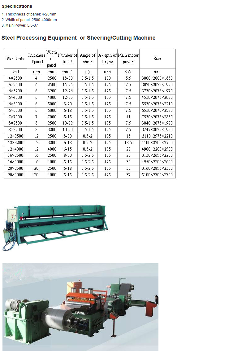 Steel Processing Equipment or Sheering/Cutting Machine