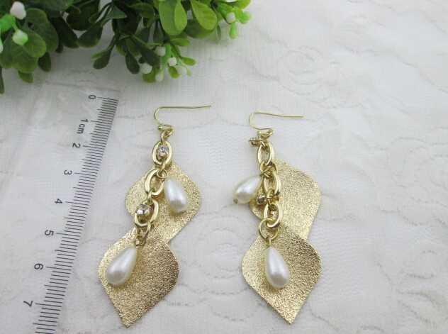artificial handmade pearl earrings jewelry