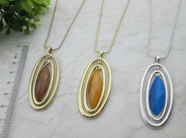 jewelry necklace popular vintage women cateye necklace