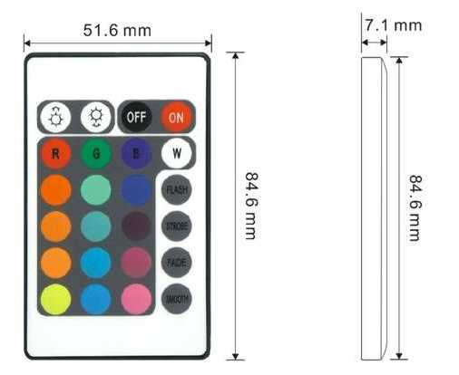 12V 24 Keys IR Remote RGB Controller