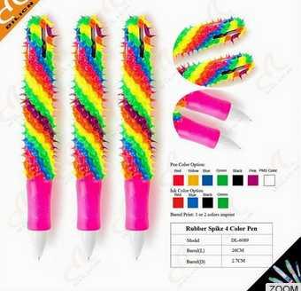Original Rubber Spike giant 4 Color Pen