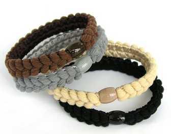 Hot high elastic braid with bead ring Hemp flowers hair band