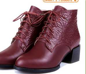 high cut lace up leather ankle boots women ladies leather ankle boot