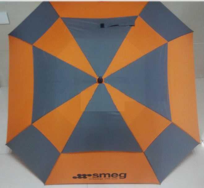 2016 vented double layers square golf umbrella