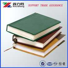 Custom printed high quality leather-covered note book, with different color for choosing.
