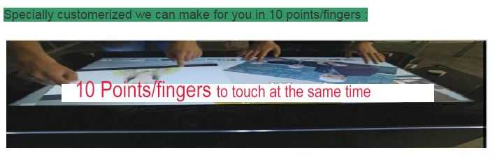 LCD monitor finger touch screen all in one PC