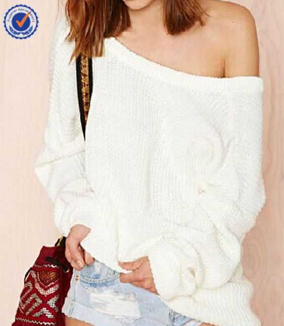 Hexin White Fashion Blouse Sweater Wholesale