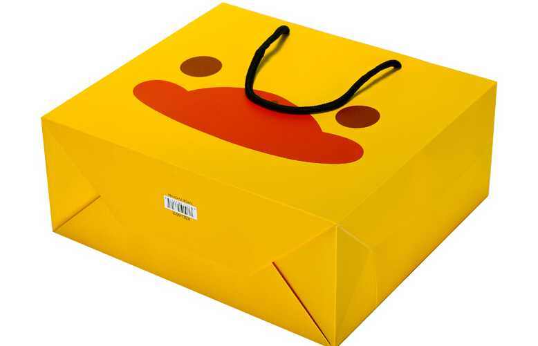 New product Custom printed cartoon kid paper bag