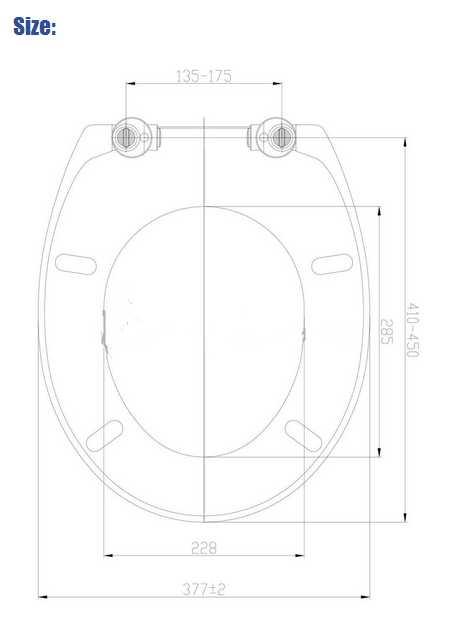 2015 European stype UF toilet seat cover SU002 BLACK