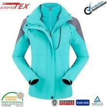 women lake blue fomfort women 3 in 1 jacket with hood 15C11010