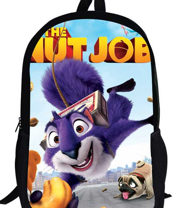 5f21a16f9be5 16-inch Teenage Boys School Bags The Nut Job Backpack Children 3D ...