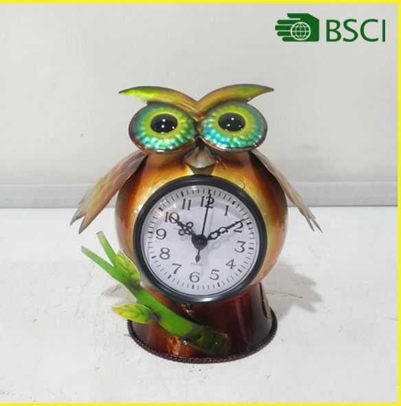 YS14980 frog handicraft digital wall clock for home decoration