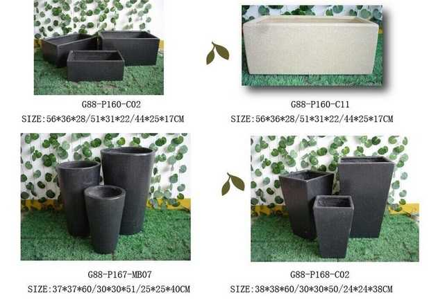 sand finish concrete planter sale for garden flower pot