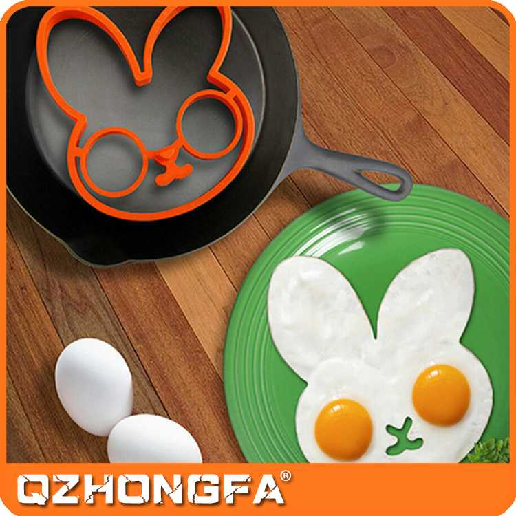 egg tray mold, heart shape silicone egg frying ring mold