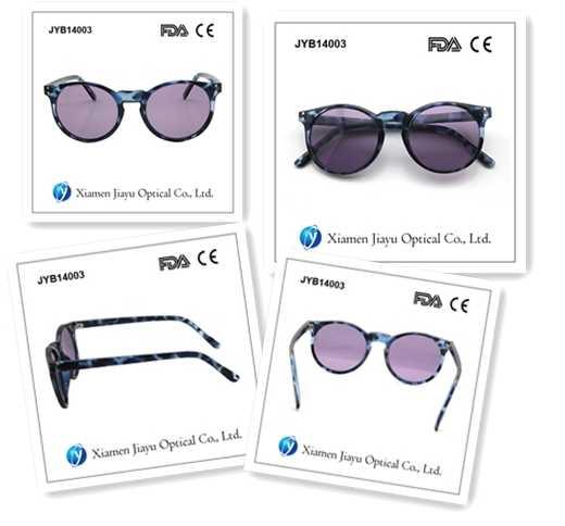 Fashion Plastic Tortoise Round Custom Sunglasses