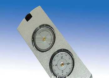 Multifuction compass with alitimeter/lens compass