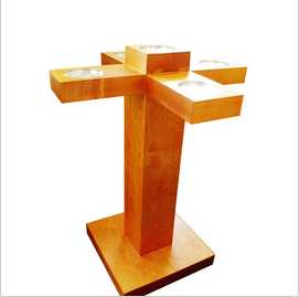 home decoration Wooden Candle Holder