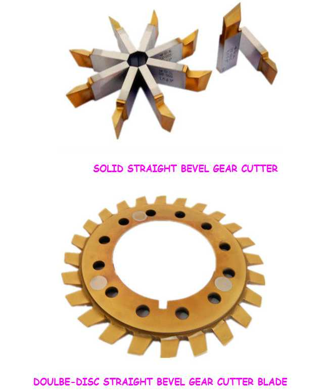 sub structure blades for straight bevel gear, double-disc gear cutter