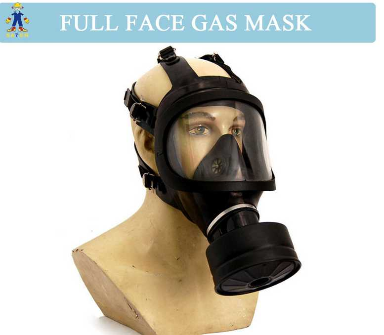 Single canister full face gas mask