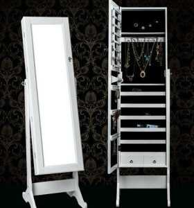 Wooden fine high quality mirror Jewelry Armoire