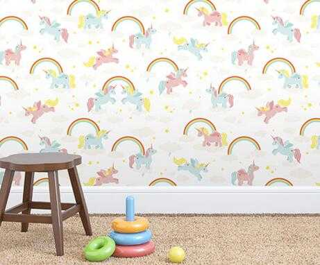 living room wallpaper wall sticker self adhesive decoration paper for kids