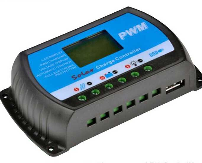 30A MPPT solar charge controller 12V/24V system auto recognize for easy control