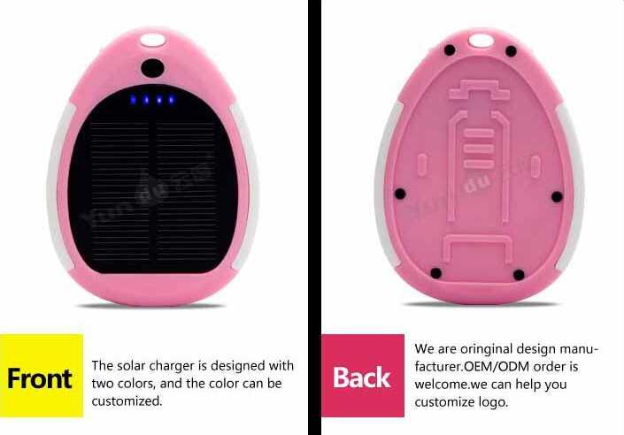 YUNDU YD-T013 Waterproof 3000mAh Solar Portable Power Bank