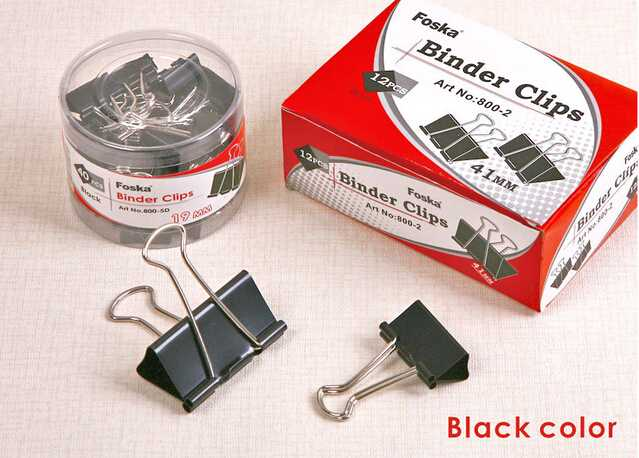Promotion black metal binder clips with good quality