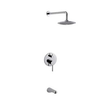 Contemporary Chrome Brass In Wall Grohe Shower
