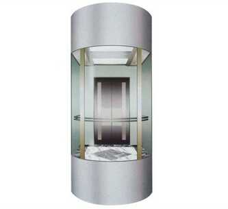 Big Space Glass Commercial Panoramic Elevator