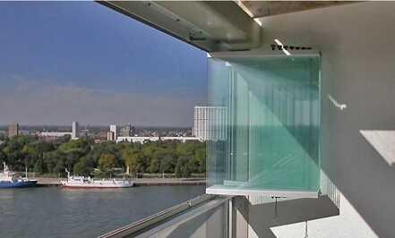 New style Aluminium frameless galss folding windows