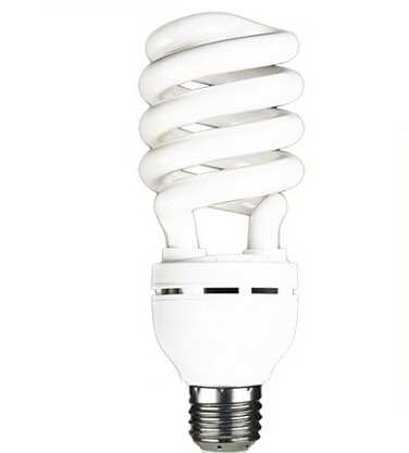 High brightness E27 220-240V 25w half spiral led energy saving light bulb