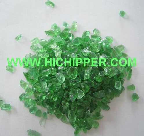 Crushed colored glass granule