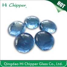 Decorative Blue Color Glass Gems Stone