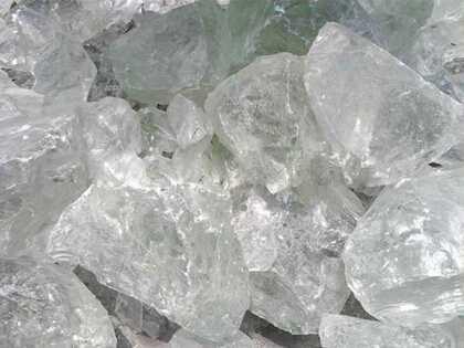 Hi Chipper large colored slag glass rock