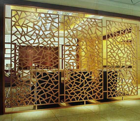 moden design antique copper steel room dividers