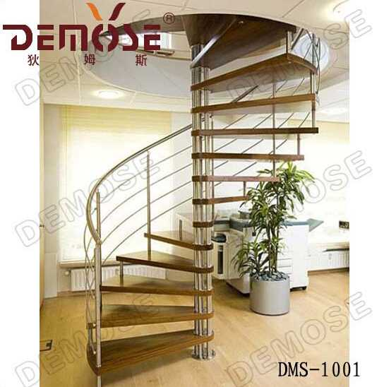 protection spiral cable railing small space stairs