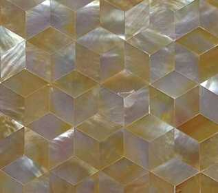 sea shell decoration, rhombus yellow mother of pearl shell mosaic tile