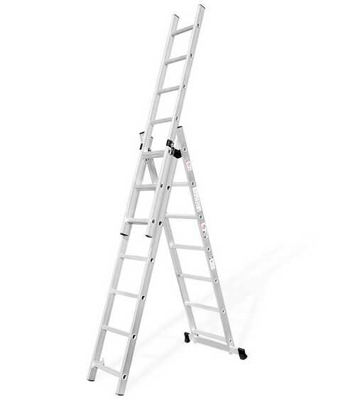 3*8 steps Aluminum adjustable combination Step Ladder, Combiantion step Extension Ladder, 3 sectoin