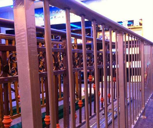Nice modern railing stairs /balcony railing designs/galvanized balcony railing ISO9001 Factory