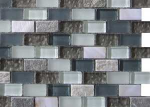 MBB4011 Mesh-mounted Brick Shell Mosaic Tile Glass and Stone Mosaic Mother of Pearl Tile for Bathroom
