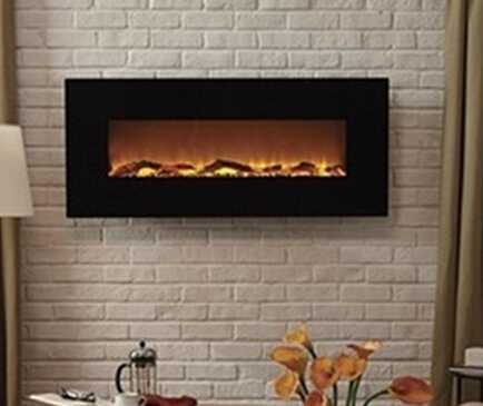 wall mounted master flame electric fireplace with remote control
