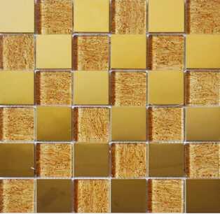 LJ052B Golden Mosaic Tiles Foshan Tiles