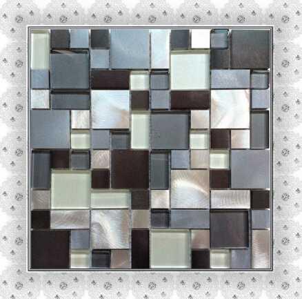 hot sell aluminum mosaic tile multi-sized mosaic tiles