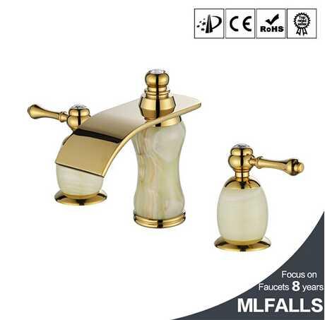 New designs Bathroom Luxury marble gold bathtub & basin taps