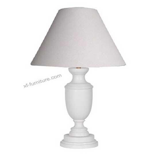 China Manufacturer white farbic wood base table lamp(RL23)
