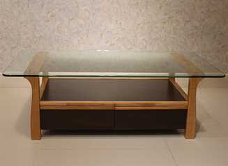 Modern Living Room Furniture Design Square Gl Top Wooden