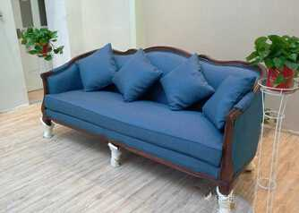 Europe style antique solid wood high grade living room three seat sofa/vintage sofa