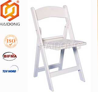 White Resin Folding Chair for wedding