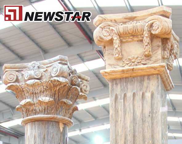 Natural stone column,marble stone square column,stone square column